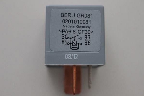 Unidad de control, tiempo de incandescencia BERU (GR081)