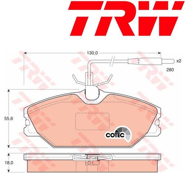 Kit pastiglie freno, Freno a disco TRW (GDB1030)