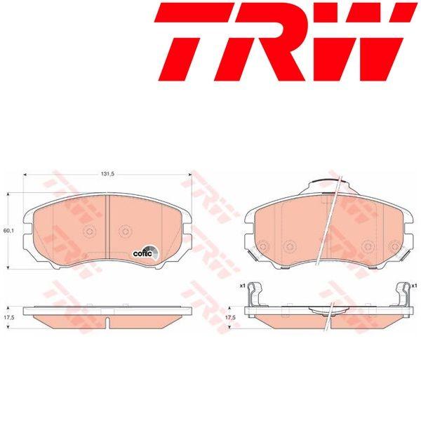 Juego de pastillas de freno TRW (GDB3352)