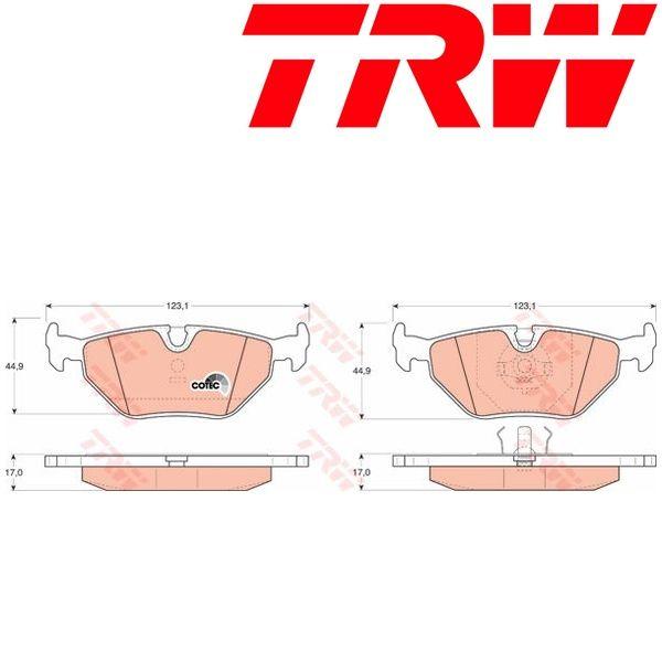 Kit pastiglie freno, Freno a disco TRW (GDB917)