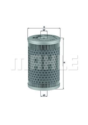 MAHLE ORIGINAL Kraftstofffilter KX 9