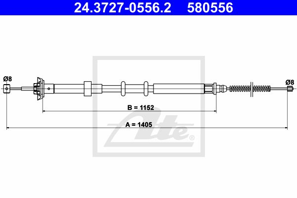 ATE Cable, parking brake 24.3727-0556.2
