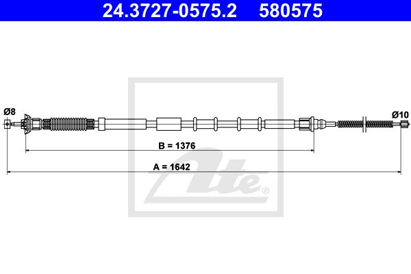 ATE Cable, parking brake 24.3727-0575.2