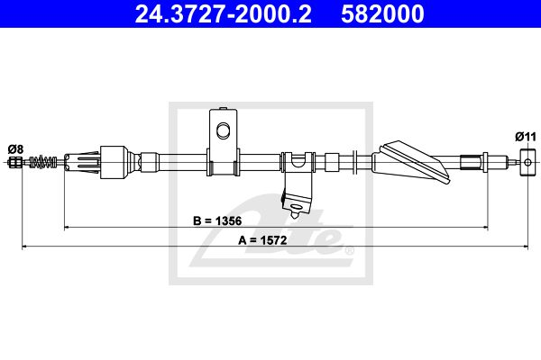 ATE Cable, parking brake 24.3727-2000.2