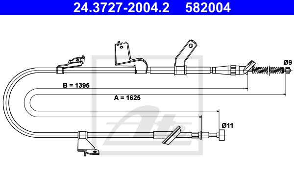ATE Cable, parking brake 24.3727-2004.2