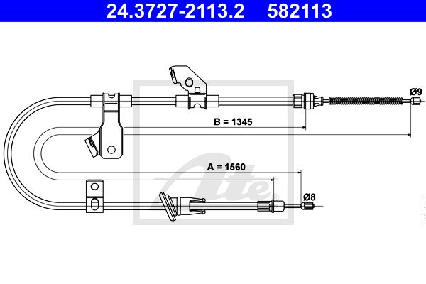 ATE Cable, parking brake 24.3727-2113.2
