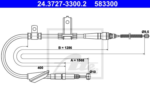 ATE Cable, parking brake 24.3727-3300.2