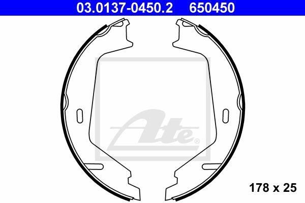 ATE Brake Shoe Set, parking brake 03.0137-0450.2