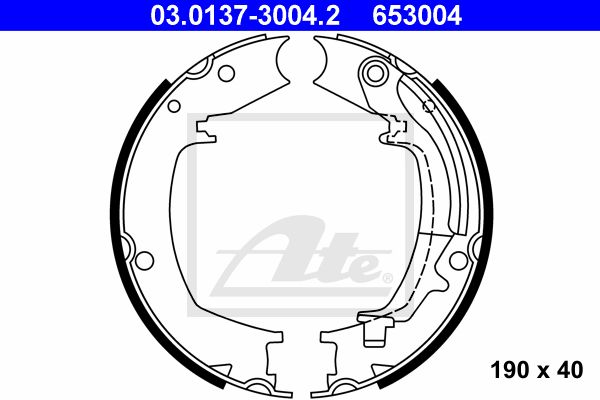 ATE Brake Shoe Set, parking brake 03.0137-3004.2