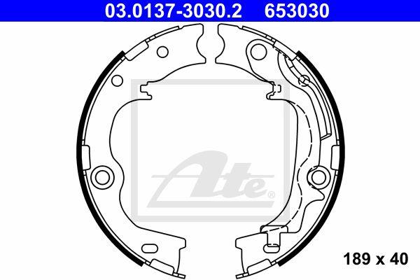 ATE Brake Shoe Set, parking brake 03.0137-3030.2