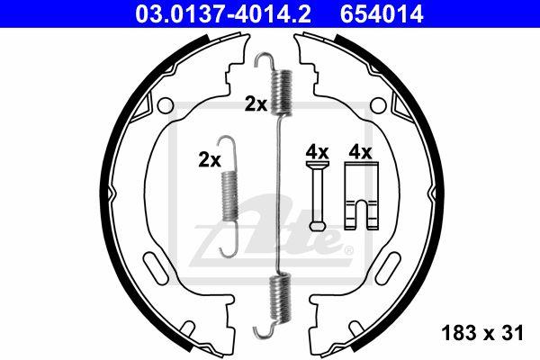 ATE Brake Shoe Set, parking brake 03.0137-4014.2