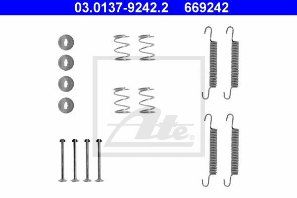 ATE Accessory Kit, parking brake shoes 03.0137-9242.2