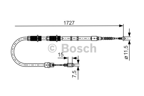 BOSCH Cable, parking brake 1 987 477 259