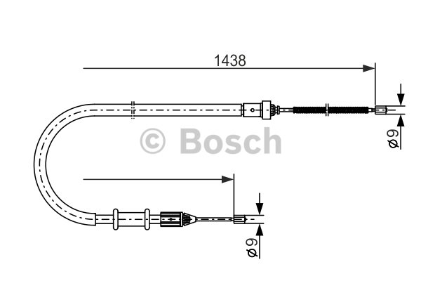 BOSCH Cable, parking brake 1 987 477 634