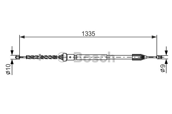 BOSCH Cable, parking brake 1 987 477 783