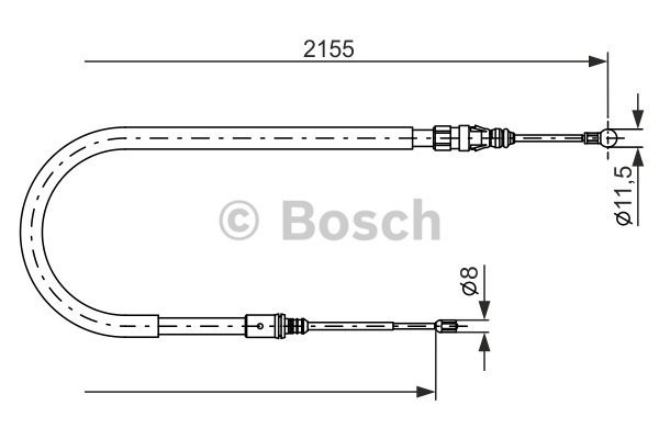 BOSCH Cable, parking brake 1 987 477 994