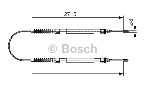 BOSCH Cable, parking brake 1 987 482 003