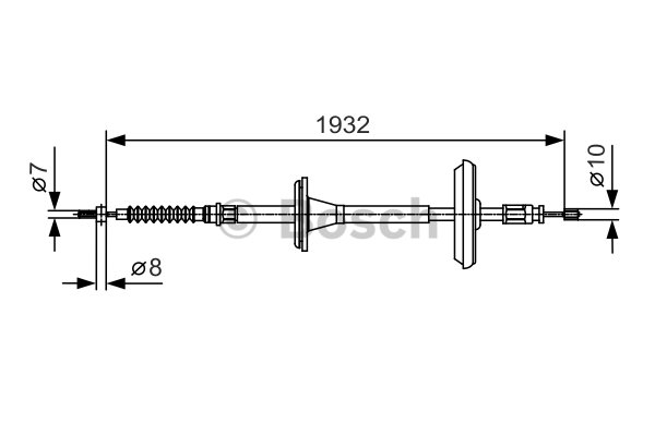 BOSCH Cable, parking brake 1 987 482 021
