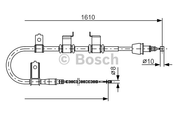 BOSCH Cable, parking brake 1 987 482 070