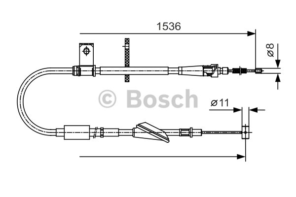 BOSCH Cable, parking brake 1 987 482 137