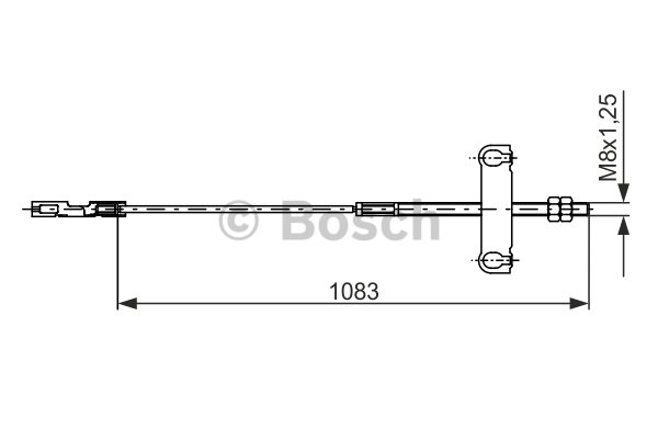 BOSCH Cable, parking brake 1 987 482 194