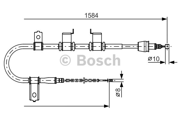 BOSCH Cable, parking brake 1 987 482 223