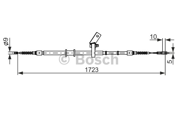 BOSCH Cable, parking brake 1 987 482 268