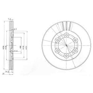 DELPHI Brake Disc BG2416