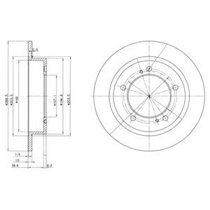 DELPHI Brake Disc BG2584