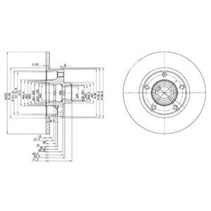 DELPHI Brake Disc BG2714