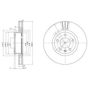 DELPHI Brake Disc BG2742