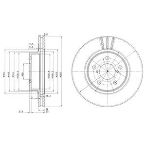 DELPHI Brake Disc BG2767