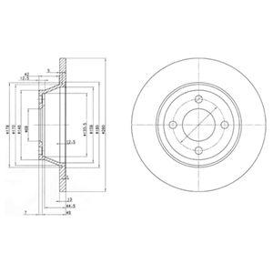 DELPHI Brake Disc BG2783