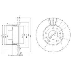 DELPHI Brake Disc BG2846