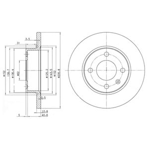 DELPHI Brake Disc BG2910