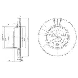 DELPHI Brake Disc BG3025