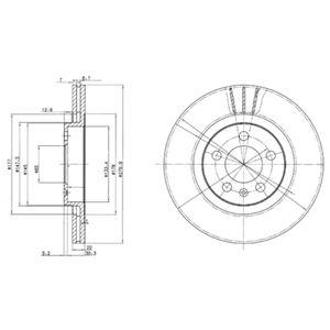 DELPHI Brake Disc BG3036