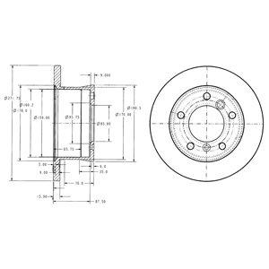 DELPHI Brake Disc BG3237C