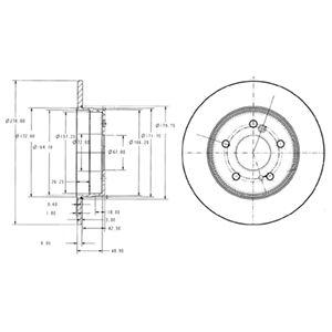 DELPHI Brake Disc BG3326