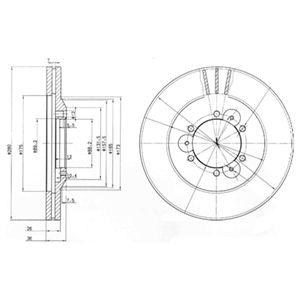 DELPHI Brake Disc BG3378