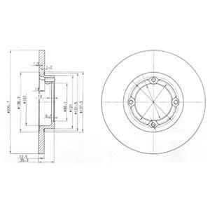 DELPHI Brake Disc BG3551