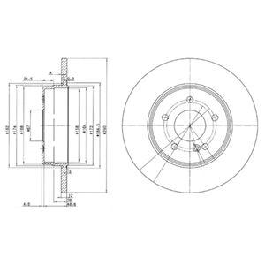 DELPHI Brake Disc BG3602