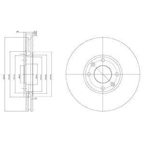 DELPHI Brake Disc BG3622C