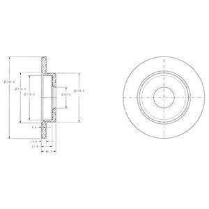 DELPHI Brake Disc BG3673