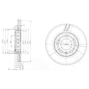 DELPHI Brake Disc BG3695