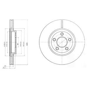 DELPHI Brake Disc BG3704