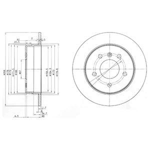 DELPHI Brake Disc BG3710