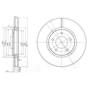 DELPHI Brake Disc BG3716