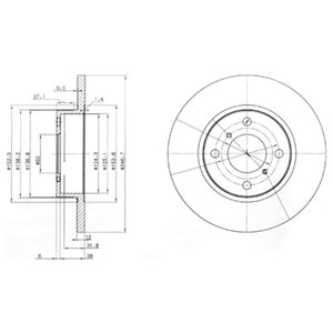 DELPHI Brake Disc BG3769