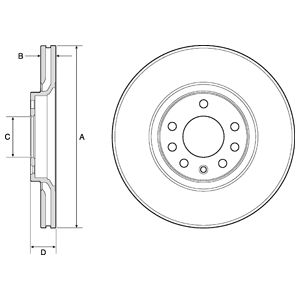 DELPHI Brake Disc BG3770